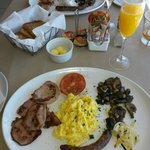 Full breakfast with preserves