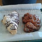 Cherry Fritter and Cream Turnover
