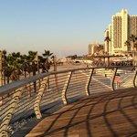 Hotels alongside long stretches of a sandy beach