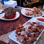 meatballs, calamari & eggplant