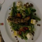 delicious lamb salad with feta cheese
