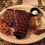 24oz Porterhouse - delicious med rare best steak I've ever had