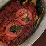 Sahara stuffed eggplant, they also have a vegetarian version
