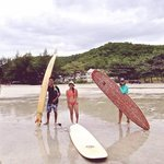 We all had a great time surfing mae ramphung beach.