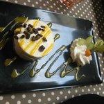 Petit Biscuit, chocolat blanc coulis exotique