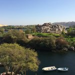 Looking from the terrace over the Nile