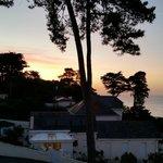 vue de la terrasse du Bar