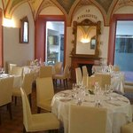Restaurant at the Hotel La Rinascente, with a well-deserved Gault Millau hat, outstanding cuisin