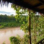 Blick von der Veranda auf den Nam Khan