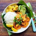 Goan prawns curry combo
