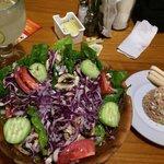 Lovely salad and lemonade