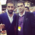With Footballer from atletico Madrid ( Arda Turan )
