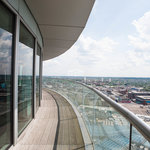 Balcony in The Roadster Penthouse at the Staying Cool at the Rotunda