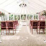 The Conservatory ready for our Ceremony
