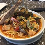 Sea food with pasta
