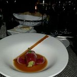 The first course on the tasting menu - the sashimi was divine!
