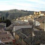 View from breakfast room terrace over Toledo