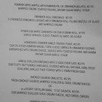 Sample Special menu during October.