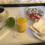 Poor breakfast in the room