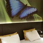 Butterfly in main bedroom.