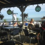 The view out from the Steamer Inn, Shanklin.