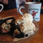 A special treat - blueberry pie
