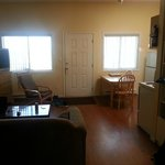 Living room from master bedroom door