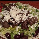 Greek salad with Gyro meat