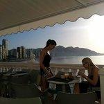 The breakfast veranda