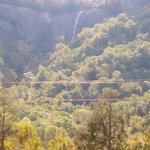 waterfall at Chimney Rock... from our room