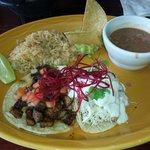 al pastor and kajiki taco...EAT THIS AND BE HAPPY