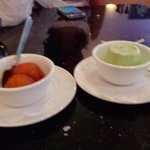 Gulab jamun and kulfi