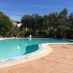 Une piscine au centre du jardin