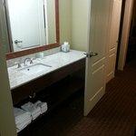 bathroom area had a huge countertop (king suite)