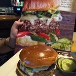 hmmm, ordered Guacomole Burger on cover...thought they brought wrong burger.