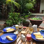 Breakfast at Lotus Villa