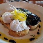 Sourdough toast with portobello mushrooms