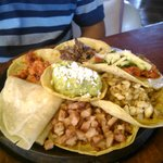 A selection of five tacos