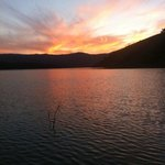 Sunset over the Lake. Greta to watch while enjoying a drink but go right down to the lakes edge.