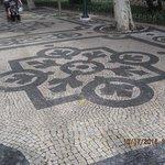 Beautiful cobble stones on Ave de Liberdade