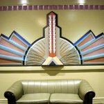 Art deco wall feature in a hall