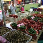 Chili vendors at the market