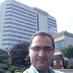 Me in front of the DoubleTree by Hilton Hotel Fort Lee, New Jersey