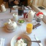 Our lovely breakfast