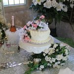 The wonderful cake Kathy made for our wedding
