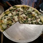Their Green Pie w/pesto and ricotta