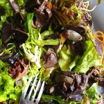 """A very tasty, really fresh - and not greasy! - """"salade de gésiers"""" (""""gizzards salad"""")"""