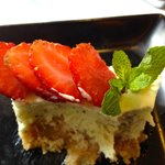 One of the most interesting and fine cheesecakes I've ever tasted: Mojito cheesecake!