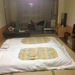 Futon beds in the room