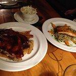 dinner - ribs & fish